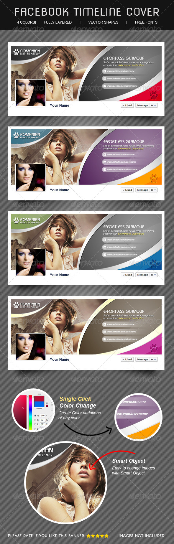 GraphicRiver Glamour & Fashion Facebook Timeline Cover 5351507