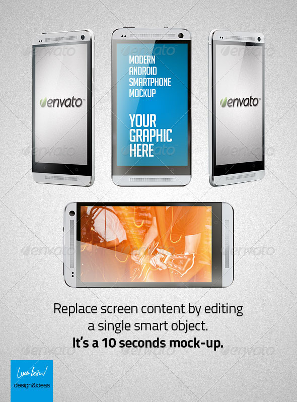 GraphicRiver Modern Android Smartphone Mock-Up 5321376