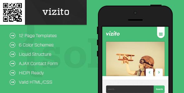 ThemeForest vizito Mobile HTML CSS Portfolio Template 5351856