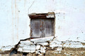 Wooden Window in Eroded Clay Wall - PhotoDune Item for Sale
