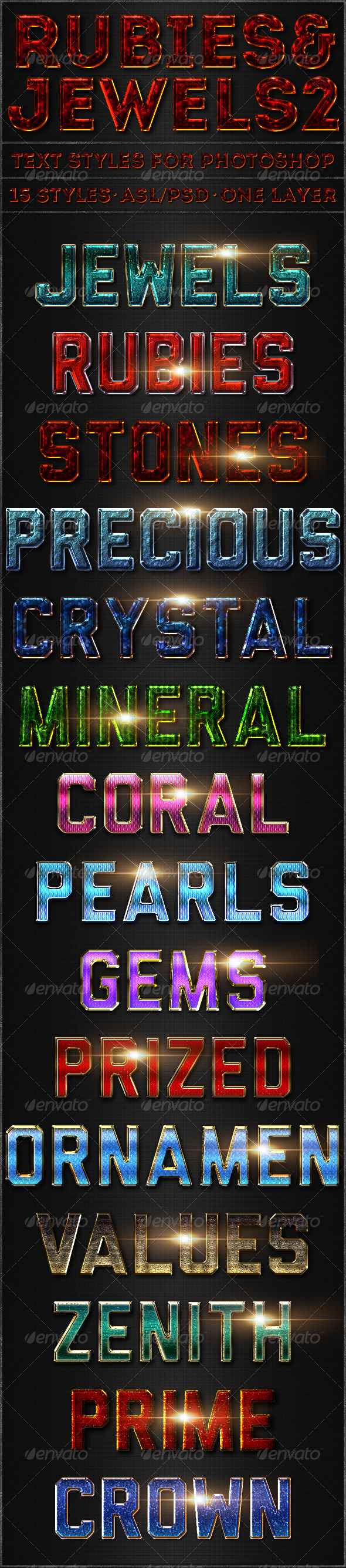Rubies & Jewels 2 - Text Styles - Text Effects Styles