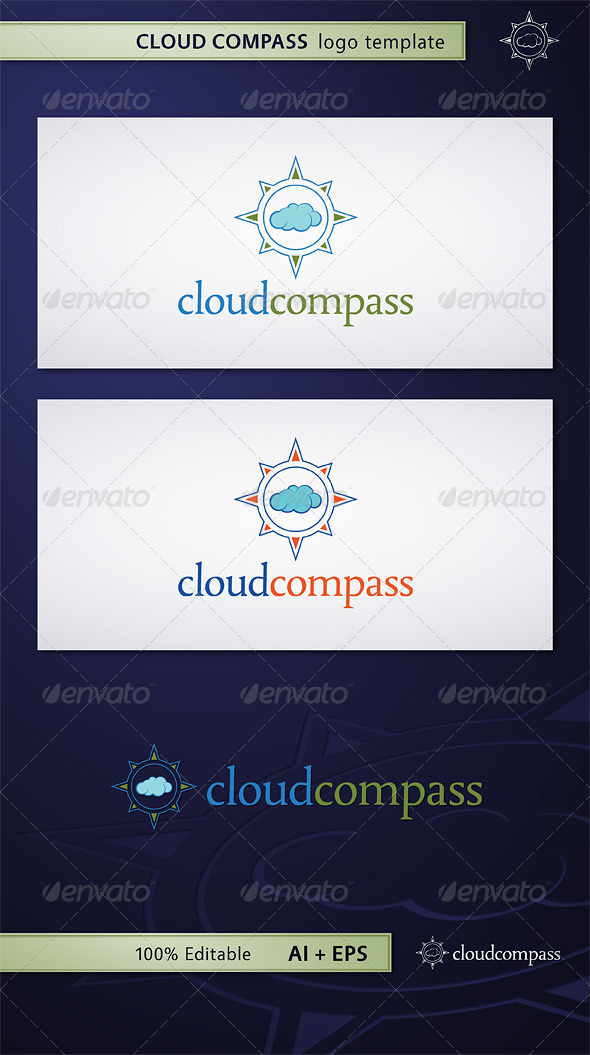 GraphicRiver Cloud Compass Logo 5352299