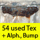 AGING Textures Pack - 54 Textures + Alpha + Bump