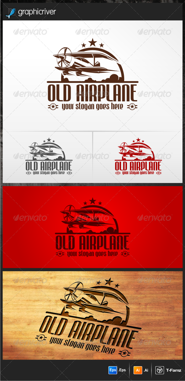 GraphicRiver Old Airplane Logo Templates 5352396