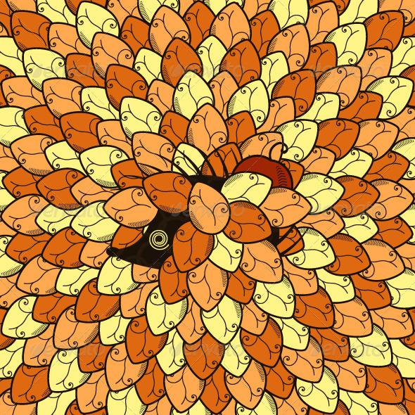 GraphicRiver Hedgehog Autumn Background 5352591