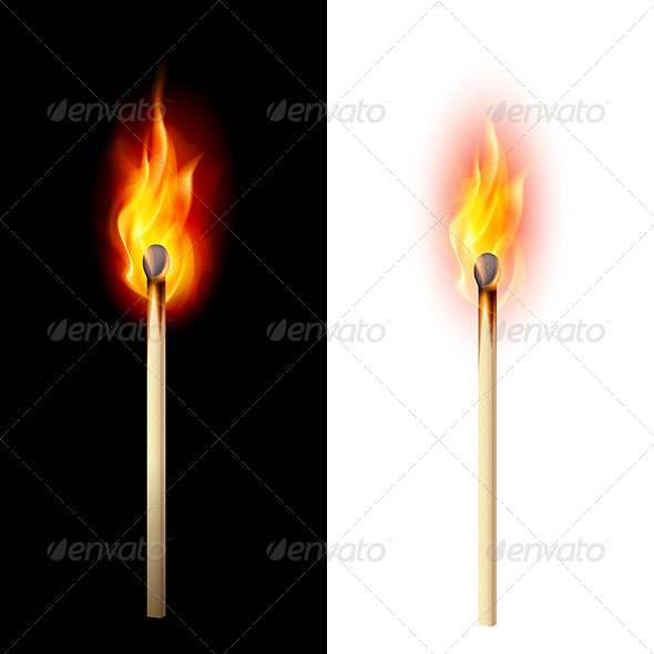 GraphicRiver Burning Match 5352608