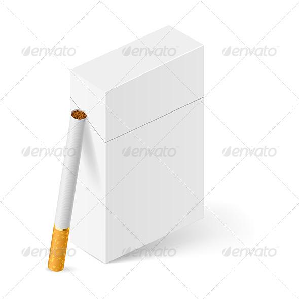 GraphicRiver White Pack of Cigarettes 5352609