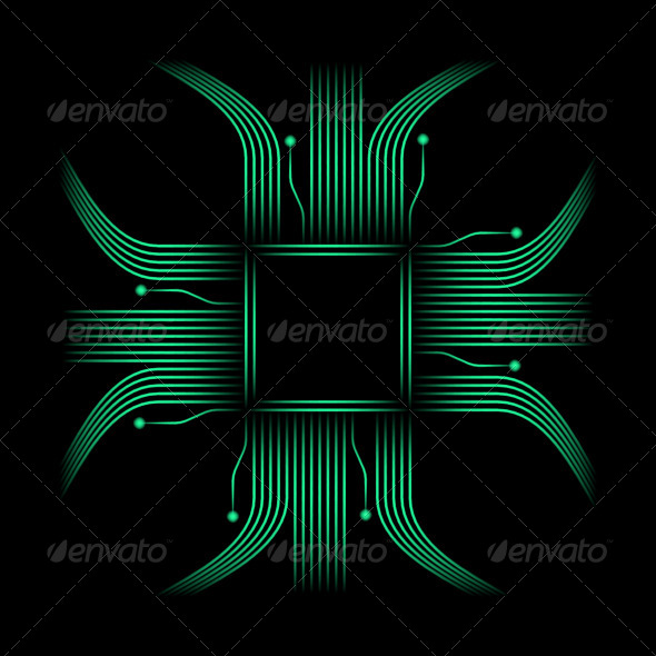 GraphicRiver Chip Neon Background 5352612