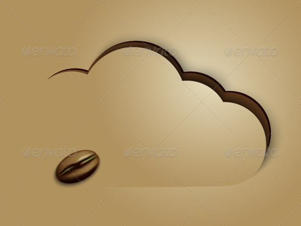 GraphicRiver Coffee Cloud Background 5352624