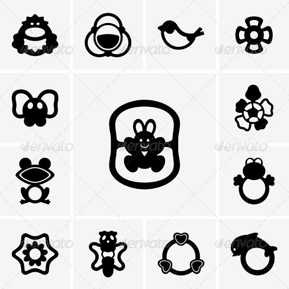 GraphicRiver Rattle Icons 5352628