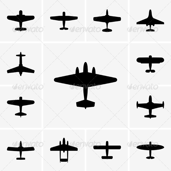 GraphicRiver Airplane Icons 5352636