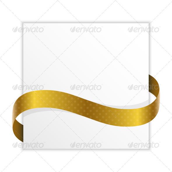 GraphicRiver Paper Golden Ribbon 5352653