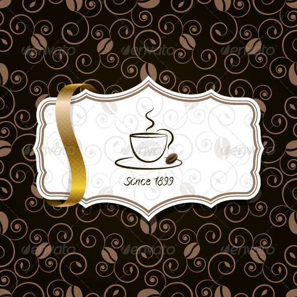 GraphicRiver Coffee Background with Ribbon 5352753