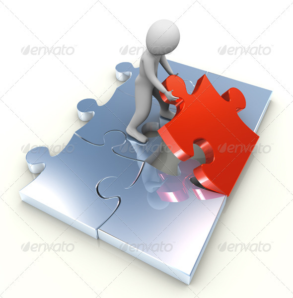 3D Man and Last Puzzle Peace