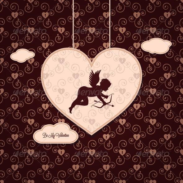 GraphicRiver Valentines Day Vintage Background 5352762