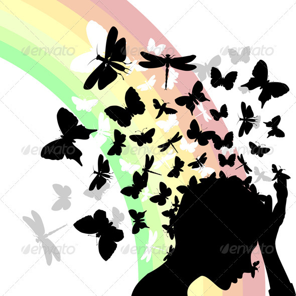 Butterflies from a head2 - People Characters