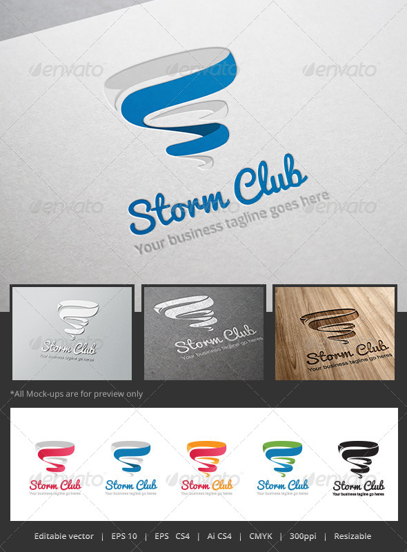 GraphicRiver Storm Club Logo 5352817