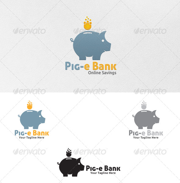 Piggy Bank Logo Template