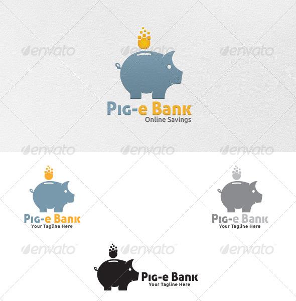 GraphicRiver Piggy Bank Logo Template 5353269