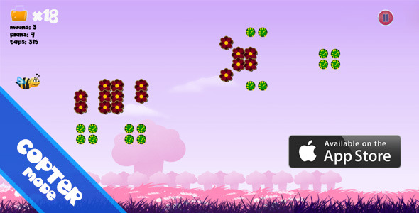 CodeCanyon Bit Fly Copter Mode iOS UIKit Game 5353449