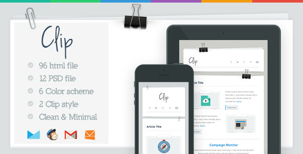 ThemeForest Clip Responsive Email Template 5353809