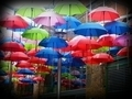 Colourful Floating Umbrellas - PhotoDune Item for Sale