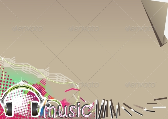 GraphicRiver Brown Music Background 5353870