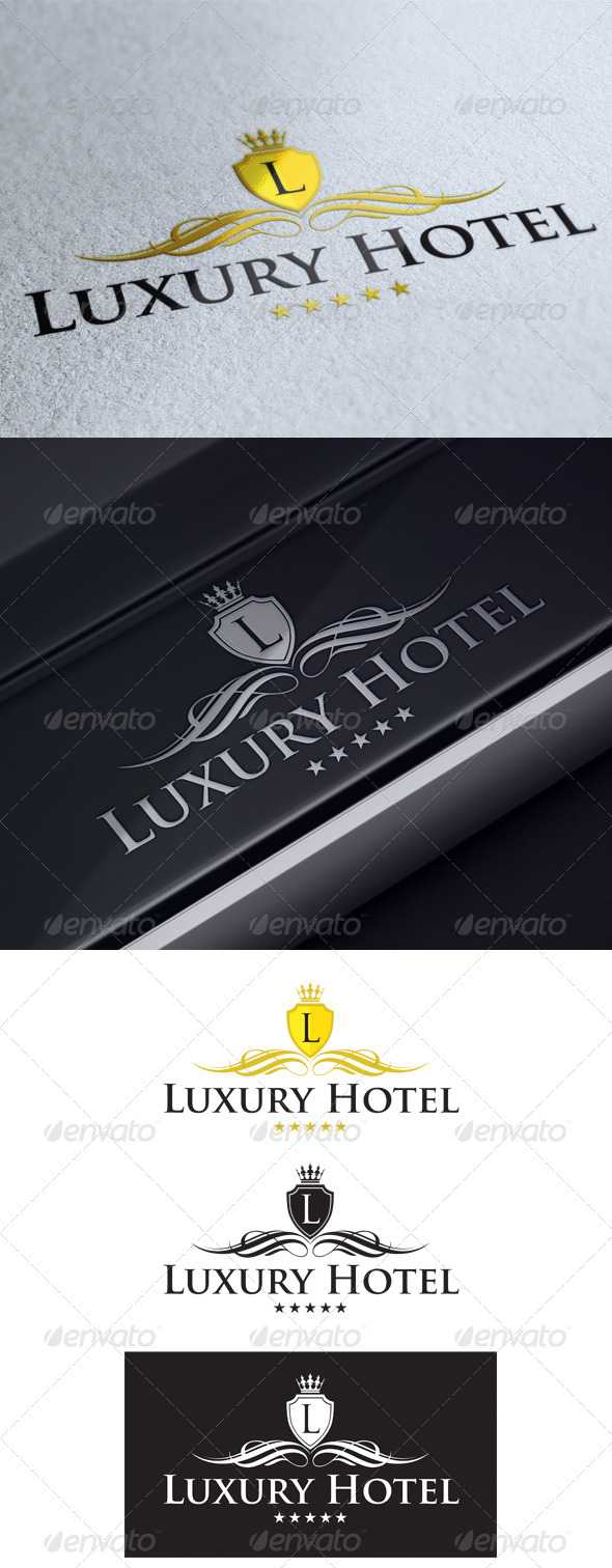GraphicRiver Luxury Hotel Logo Template 5354036