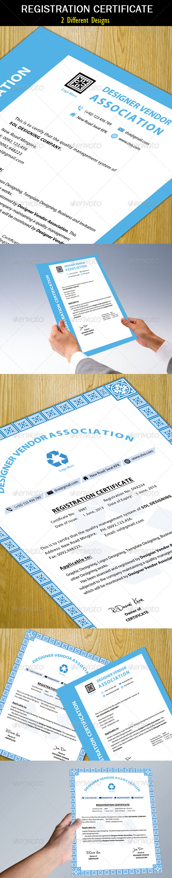 GraphicRiver Registration Certificate Clean 5354098