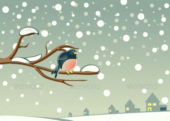 GraphicRiver Bird on Tree 5354103