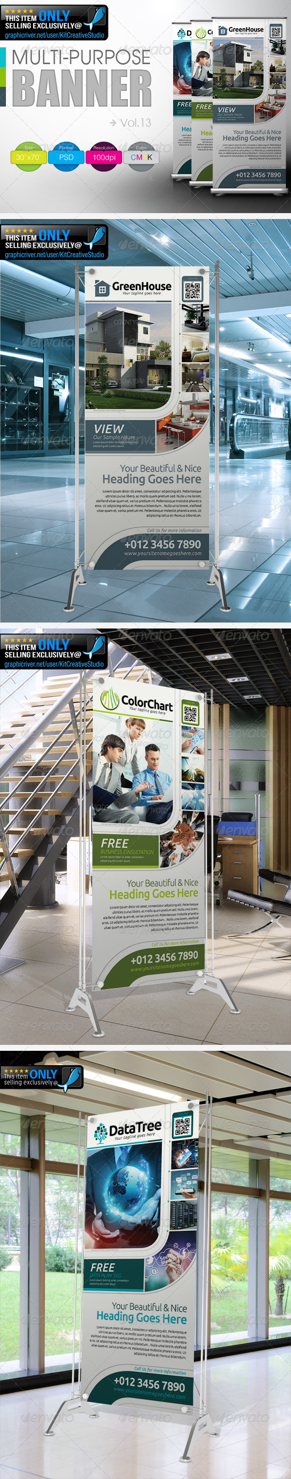 Multipurpose Banner Vol.13 - Signage Print Templates