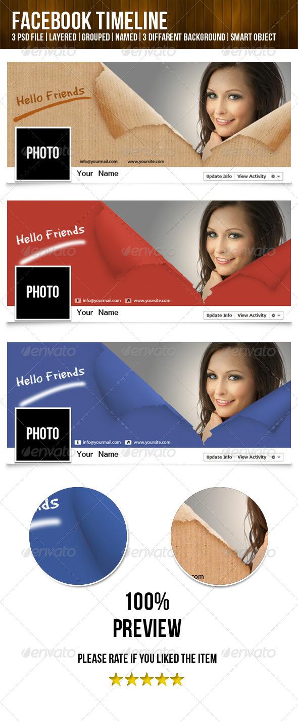 GraphicRiver Beautiful Facebook Timeline 5354130