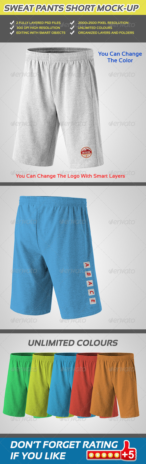 GraphicRiver Sweat Pants Short Mock-up 5354147