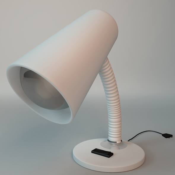 Desk Lamp With Light Bulb - 3DOcean Item for Sale