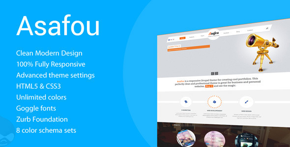 ThemeForest Asafou Responsive Multi-Purpose Drupal Theme 5315700