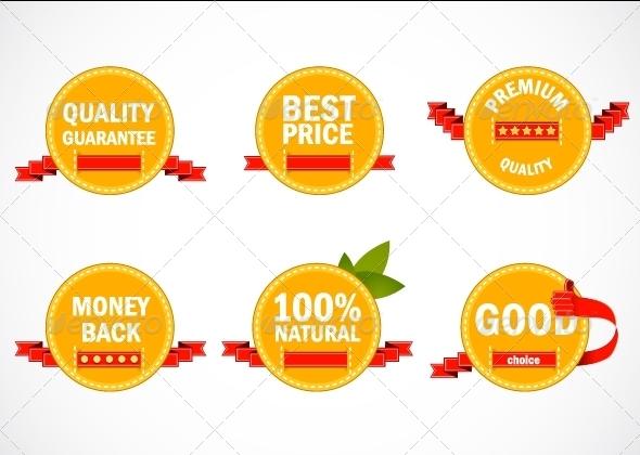 GraphicRiver Orange Promo Labels 5354266