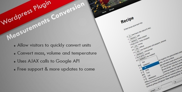 CodeCanyon Measurement Conversion WordPress Plugin 5354382