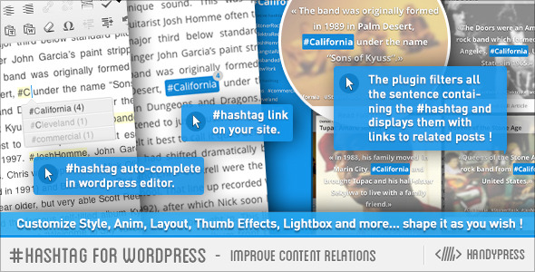 Hashtag for WordPress – Improve Content Relations (Utilities) images