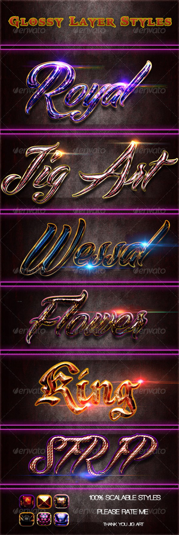 GraphicRiver Glossy Layer Styles 5295741