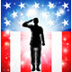 US Flag Military Armed Forces Soldier Silhouette  - GraphicRiver Item for Sale