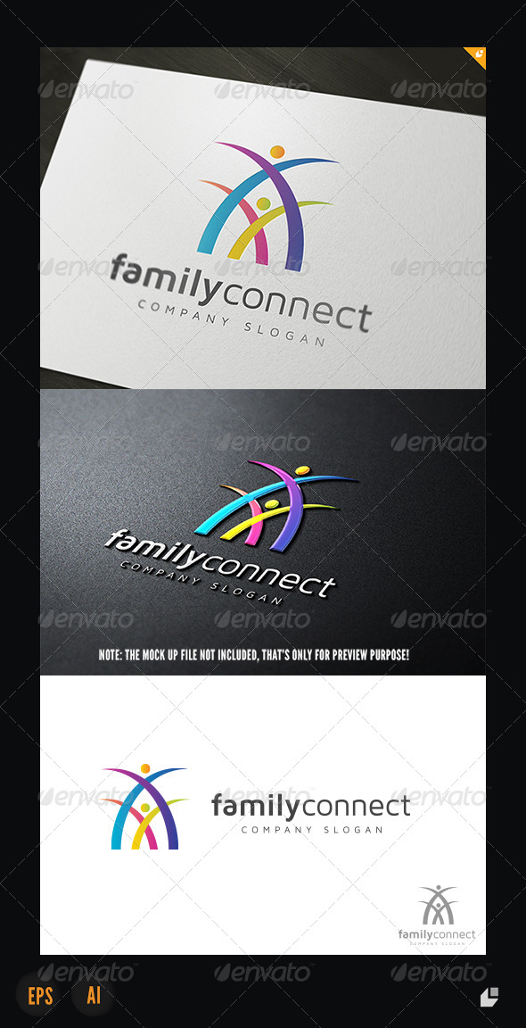 GraphicRiver Family Connect Logo 5354948