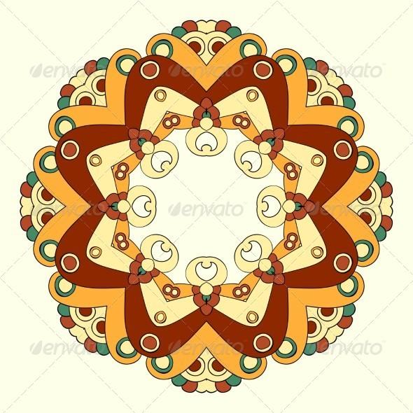 GraphicRiver Ornamental Lace Pattern Circle 5354996