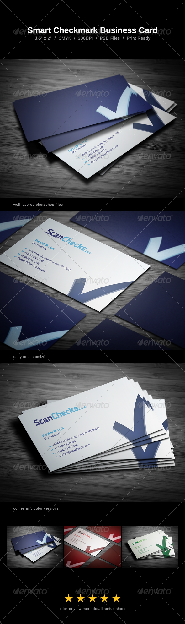 Smart Checkmark Business Card