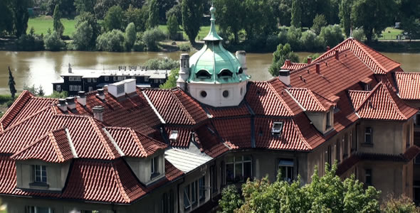 Roofs of Houses in Prague