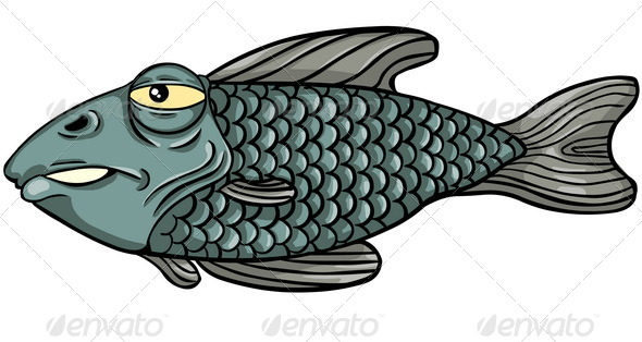 GraphicRiver Vector Character Grumpy Fish 5355012