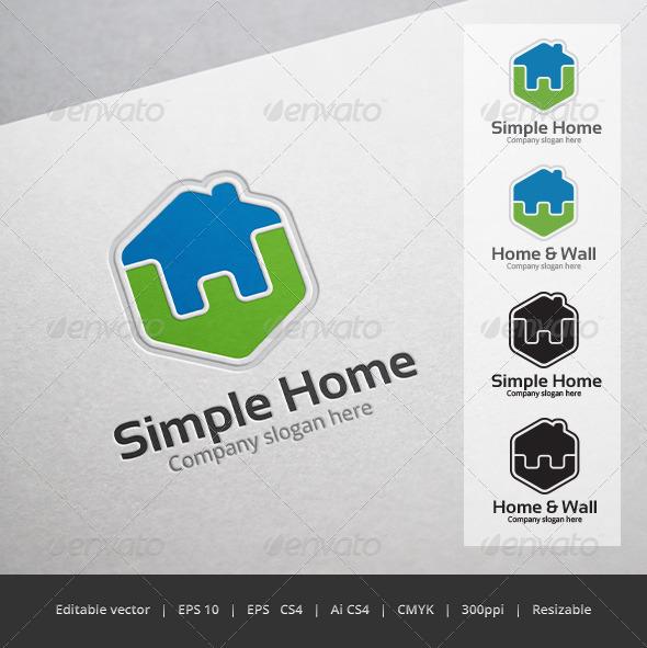 GraphicRiver Simple Home Logo 5355214