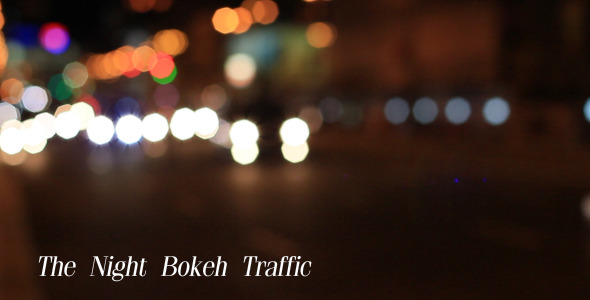The Night Bokeh Traffic 1