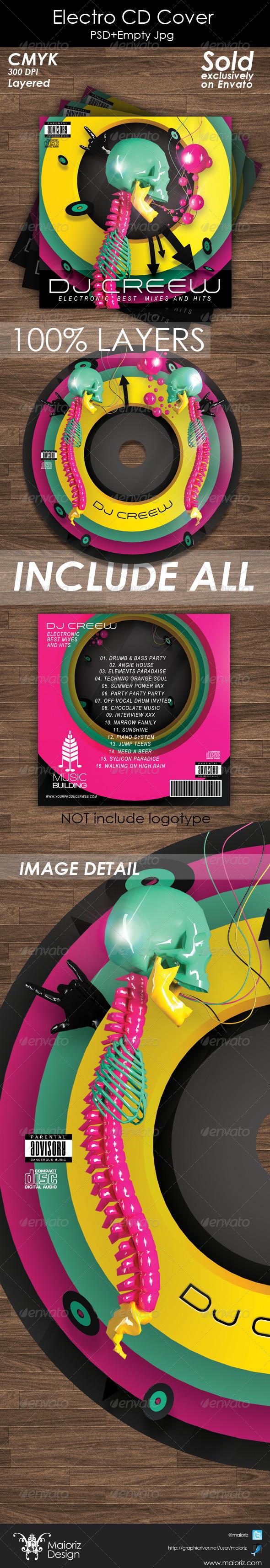 GraphicRiver Electro CD Cover Artwork 5355599
