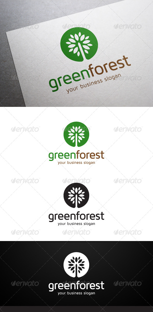 GraphicRiver Green Forest Logo 5355600