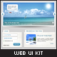 Clean UI Web Kit, Psd Modern Graphic Elements Pack - GraphicRiver Item for Sale